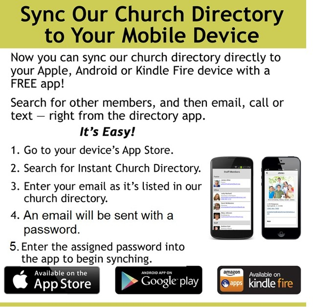 Church Directory App Instructions