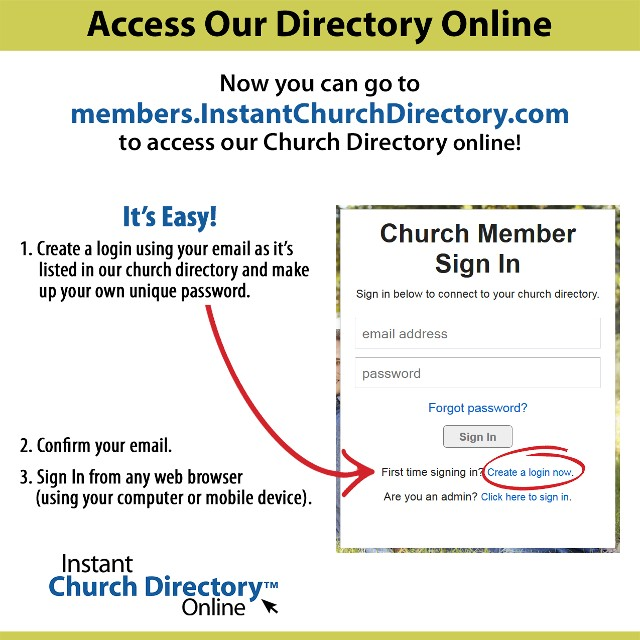 Church Directory Online Insturctions