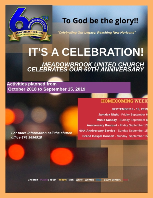 60th Anniversary Activities