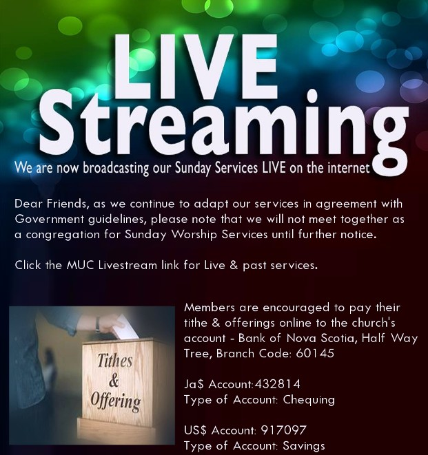Meadowbrook United Church Sunday Service Live Stream